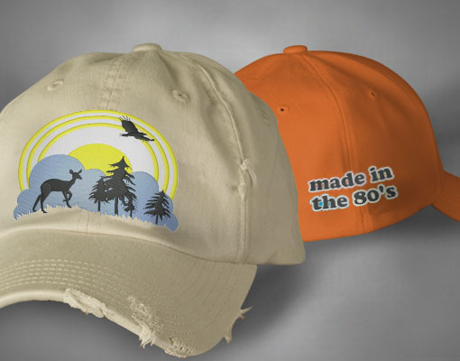 custom embroidered hats picture